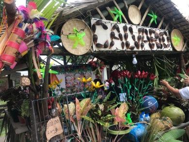 Local barangays selling their plants, flowers, harvests.