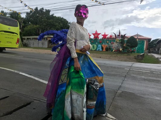 Caijhan Muridrow representing the queen regalia of Villa Lumpia